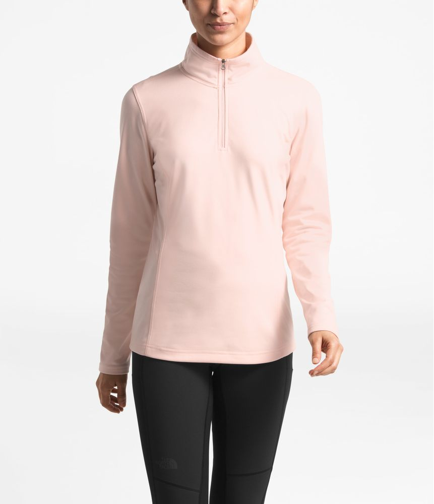 WOMEN-S-TECH-MEZZALUNA-1-4-ZIP--COLOR--ROSADO---TALLA--S