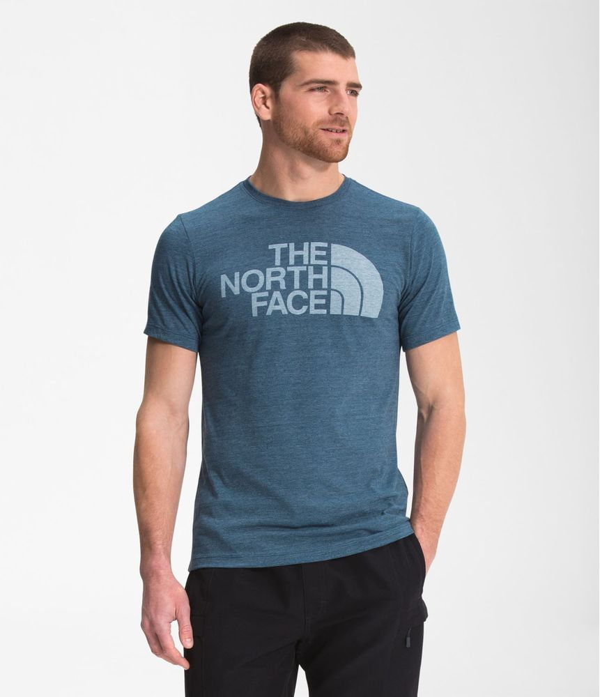 camiseta-manga-corta-half-dome-triblend-hombre-azul-the-north-face
